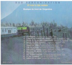 Dos de la pochette de l'album